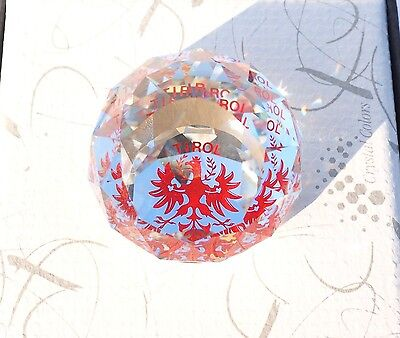 Swarovski Tirol Paperweight Crystal Colors With Boxes