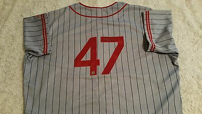 francisco liriano signed game used turn back the clock jersey