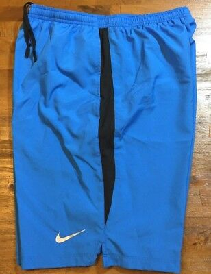 "NIKE Dri-Fit Challenger 9"" Running Shorts - Men's Small S Blue/Black NWT"