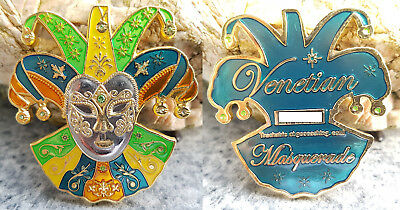 Mardi Gras Masquerade Geocoin GC Colors Edition - SOLD OUT - RAR !!!