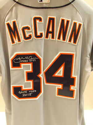 james mccann signed game used tigers jersey