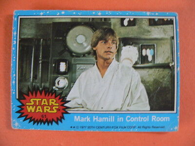 Star Wars. Topps Card. 1977. Mark Hamill in Control Room.