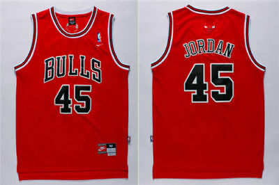 NWT New Chicago Bulls Michael Jordan 45 Stitched Swingman Throwback Jersey