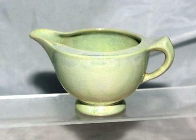 George Clews Chameleon Ware Lemon Green Lustre Art Deco Milk Jug circa 1920