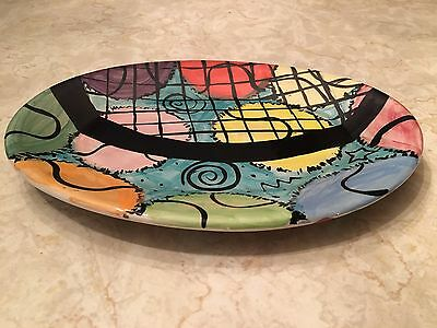 Mississippi eclectic studio art pottery serving tray Rhonda Rayborn bohemian