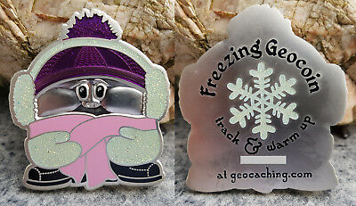 Freezing Geocoin - Pink Cap XLE100 - AntSilber - SOLD OUT