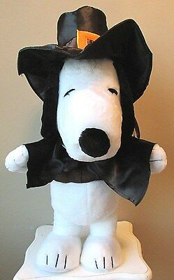 "Snoopy Thanksgiving Pilgrim Plush Porch Sitter/Greeter 22"" New w/Tag"