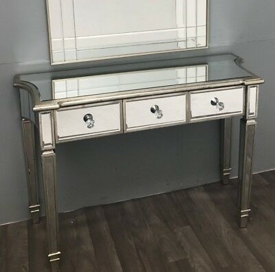 Venetian Mirrored Dressing Table Antique French Furniture Large Console Storage