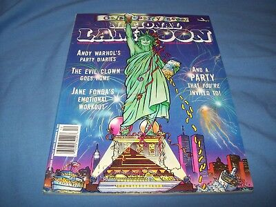 National Lampoon December 1989 Andy Warhol