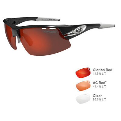 Tifosi 1340102121 Crit Race Silver - Clarion Red/AC Red™/Clear