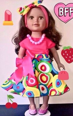 Dolls 18 inch clothes to fit american girl,designer friend , our generation gir