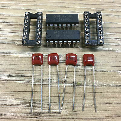 Korg Delta DL-50 1nF orange polypropylene capacitors and 2xLM13600N filter Kit