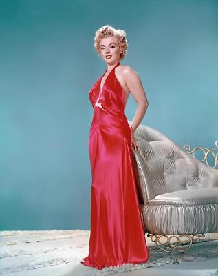 Marilyn Monroe Red Dress Stretched Canvas Movie Poster Art Print 60s Model Icon