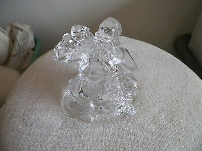 Coca Cola Santa Drinking  a coke (1997 clear glass or crystal figurine)