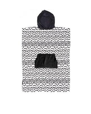 Kids Hooded Surf Poncho - Black & White Print From Ocean & Earth RRP $69.99