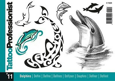 Inspire Uk  Tb41 Professionist 11 Dolphins Tattoo Flash Designs Uk Stockist