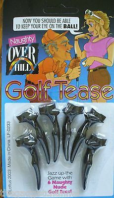 6 Over The Hill Funny Nude Golf Tees Joke Golfers Mens Fathers Day Prank Gift
