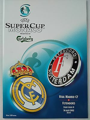 2002 Uefa Super Cup Real Madrid v Feyenoord