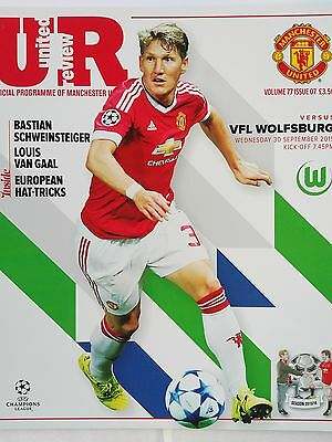 Manchester United v VFL Wolfsburg Uefa Champions League 30th September 2015