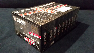 Rare! Basf Chrome Super Ii Blank Audio Cassette Tape Sealed Set Of 10
