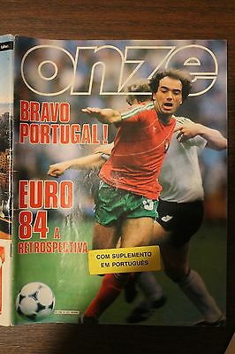 rare EURO 1984 FRENCH FOOTBALL MAGAZINE ONZE PORTUGAL FRANCE final with insert