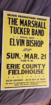 Marshall Tucker Elvin Bishop Early  Boxing Style Cardboard  Concert Poster