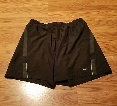 Nike Dri-Fit Black Athletic Running Shorts Men's Size XXL