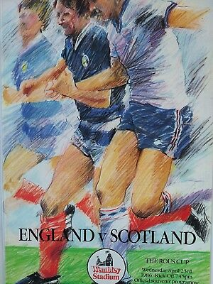 England v Scotland The Rous Cup 23/4/1986 Mint condition @ Wembley Stadium