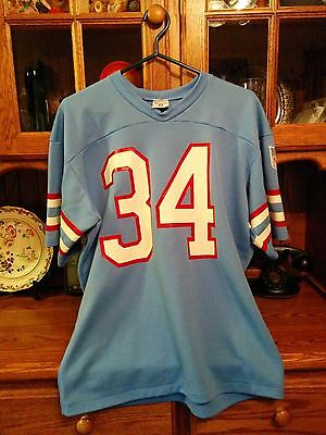 """Houston Oilers, Vintage, """"Rawlings"""" Brand, #34 MENS Jersey, Size L, USED, NFL"""