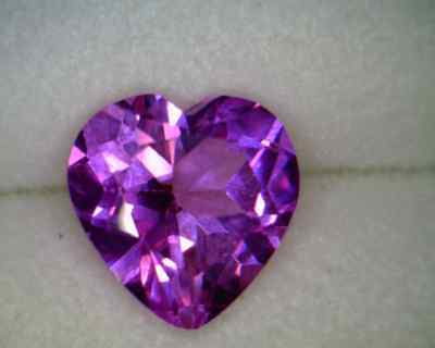 Created Pink Sapphire 7x7mm Heart Shaped AA - Quantity of 10