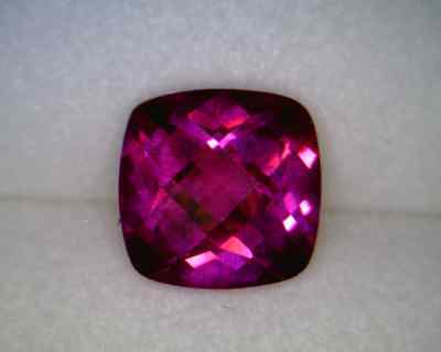 Created Ruby 5x5mm Cushion Checkerboard Top AA - Quantity of 10