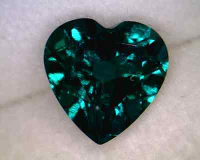 Created Emerald 5x5mm Heart Shaped AA - Quantity of 10
