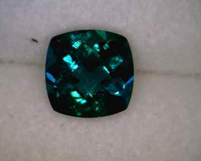 Created Emerald 6x6mm Cushion Checkerboard Top AA - Quantity of 10