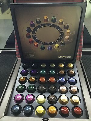 Nespresso Capsules Pods Coffee. 36 Pods 18 Flavours Taster Box Refill