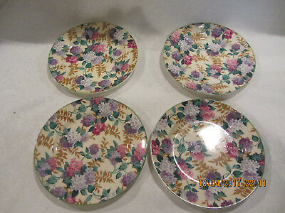 Royal Tudor Ware Barker Bros England Floral Salad/Bread Plates set of 4
