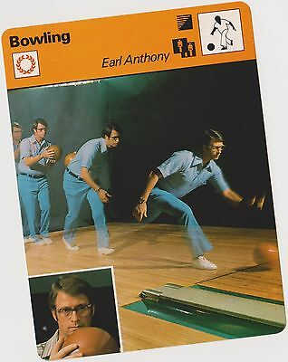 Rare 1977 Earl Anthony Sportscaster Card #04-10 First Printing Nrmt From Cello