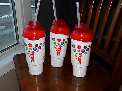 3 coca cola freestyle 100+ drink choices plastic cup with straw advertising 2013