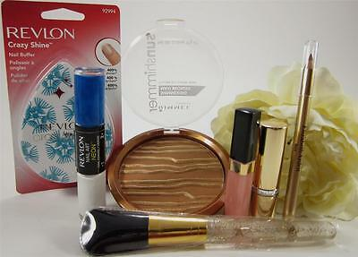 ELIZABETH ARDEN + REVLON + RIMMEL All 7 New pcs. with Nice Lipstick & Brush