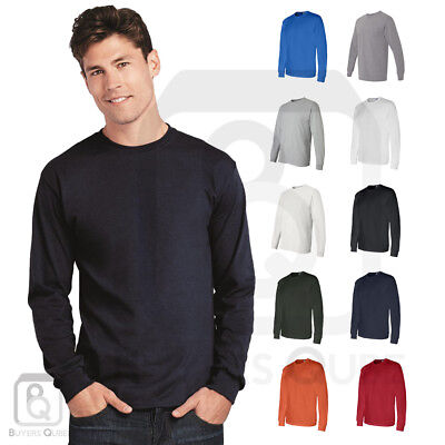 Gildan Mens DryBlend 50/50 Plain Blank Long Sleeve T Shirt S-3XL - 8400