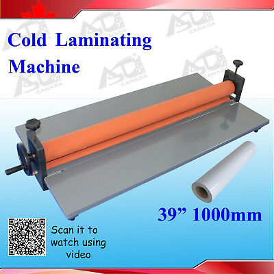 New 39Inch 1M Manual Cold Laminating Mounting Vinyl Film Machine Laminator