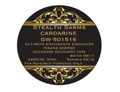 "Stealth Sarms GW-501516 Cardarine 25mg/mL 30ml Bottle ""For Ultimate Endurance"""