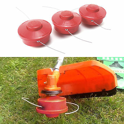 3pcs Replacement Bump Feed Line Spool Head For Strimmer With 2.4mm Cut Rope