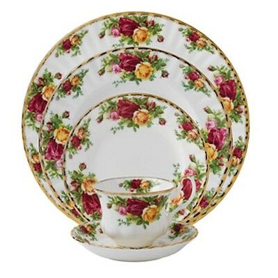 5 Piece Set - Royal Albert Old Country Roses Fine China