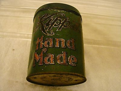 Kipps Cigar Tin Can Hastings Nebraska Factory 94 Count 25 With Lid Green