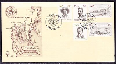 South West Africa 1983 Luderitz Settlement First Day Cover  #40