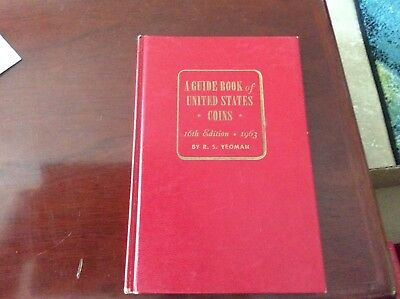 A Guide Book of United States Coins 16th Edition by R.S. Yeoman Red Book Error