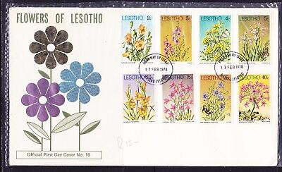Lesotho  1978 Flowers First Day Cover