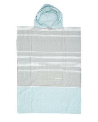 Ladies Siesta Hooded Poncho Towel In Light Grey From Ocean & Earth