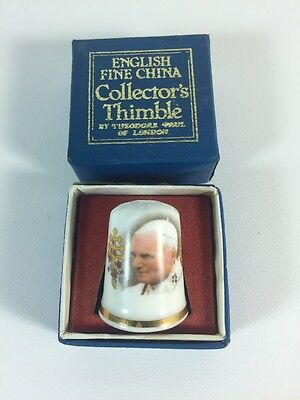 Theodore Paul of London Collector's Thimble ( Pope John Paul  English Fine China
