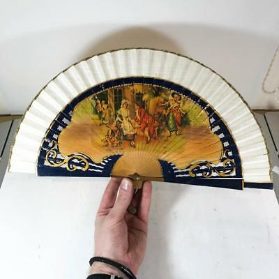 Vintage Hand Held Fan - Oriental Folding Flick Out Hand Fan - Collectable